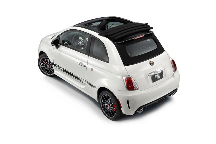 Abarth 595 C Cabrio 1.4 T-Jet 165PS Pista 70th 2Dr Auto back view