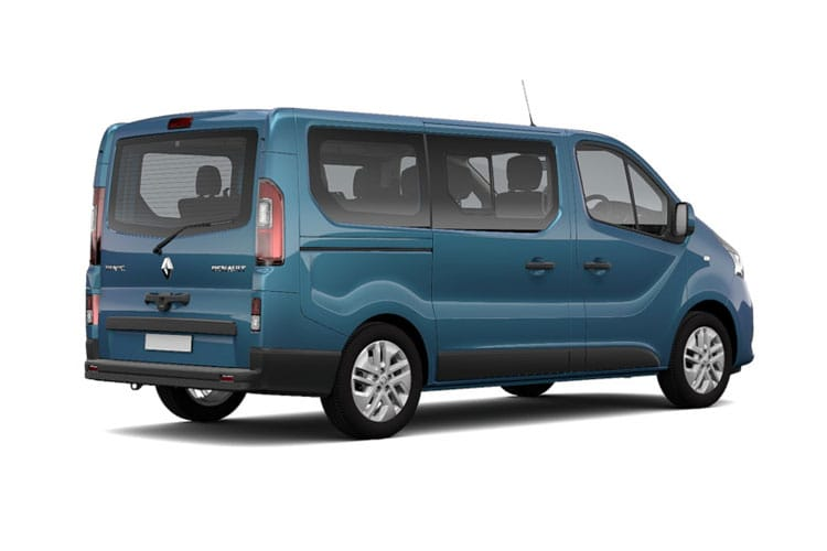 Renault Trafic 28 SWB MiniBus M1 2.0 dCi FWD 145PS Business Minibus Manual [Start Stop] [9Seat] back view