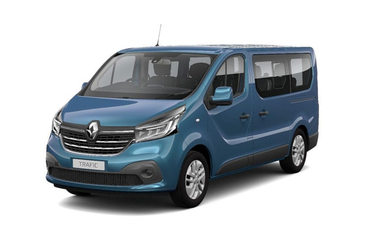 Renault Trafic 28 SWB MiniBus M1 2.0 dCi FWD 170PS SpaceClass Minibus EDC [Start Stop] [9Seat] front view