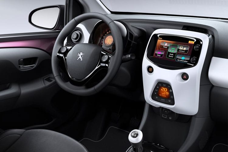 Peugeot 108 Hatch 5Dr 1.0  68PS Active 5Dr Manual inside view