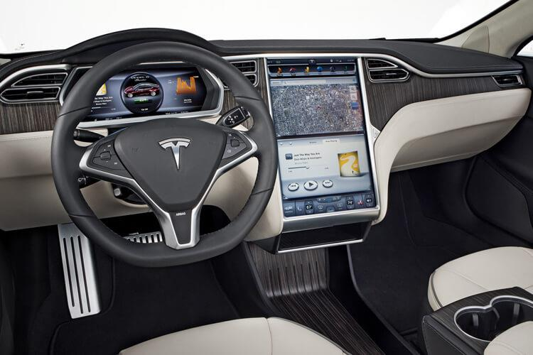 Tesla Model S 5Dr Tri Motor Elec 761KW 1020PS Plaid 5Dr Auto inside view
